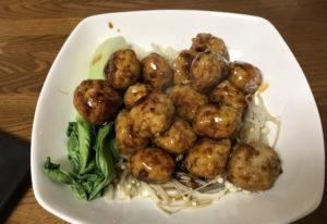 オイシックスミールキット-鶏団子の中華風照りとろ炒め