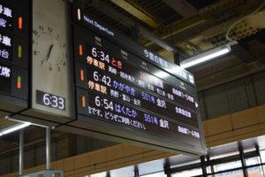 大宮駅の新幹線乗り場