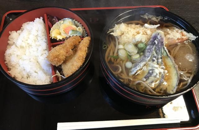 東京苑 - 天ぷらそば定食