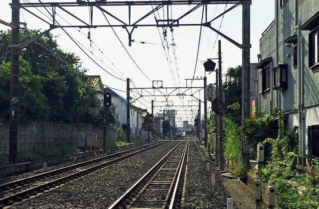 線路沿い - 西武新宿線
